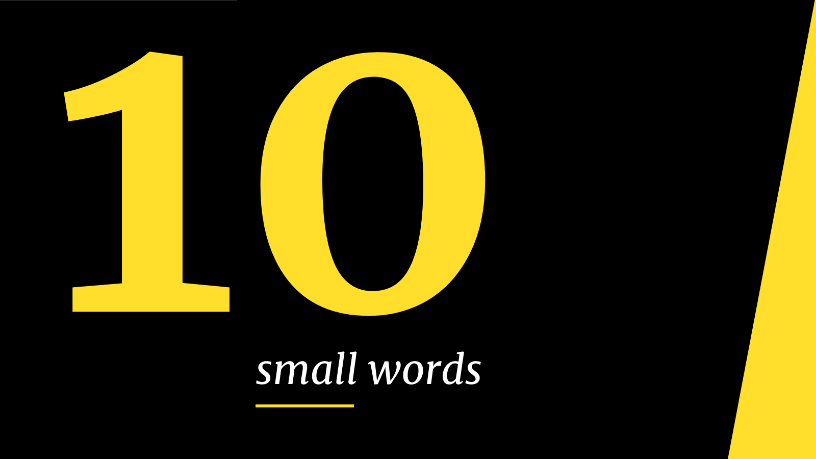 10 small words